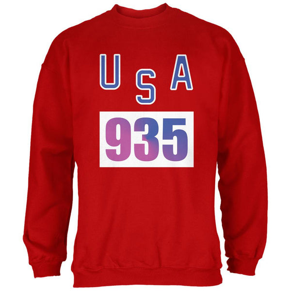 Team Bruce Jenner USA 935 Olympic Costume Red Adult Sweatshirt