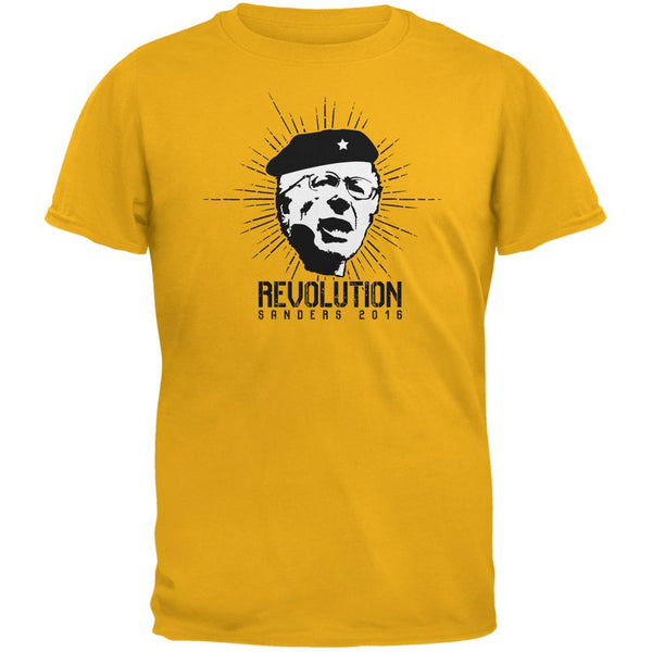 Election 2016 Bernie Sanders Che Guevara Parody Gold Youth T-Shirt