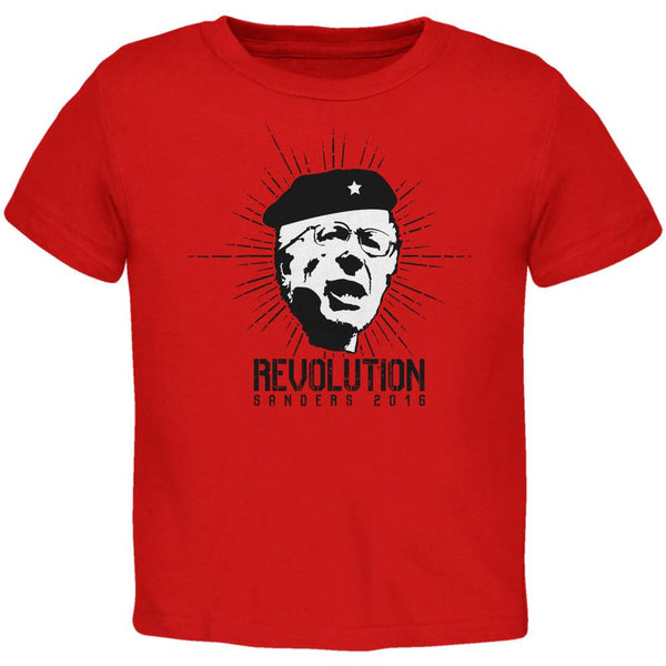 Election 2016 Bernie Sanders Che Guevara Parody Red Toddler T-Shirt
