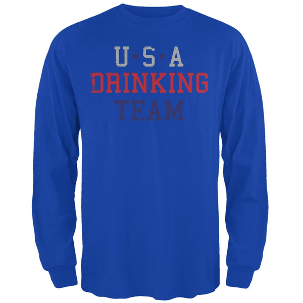 4th of July USA Drinking Team Royal Adult Long Sleeve T-Shirt