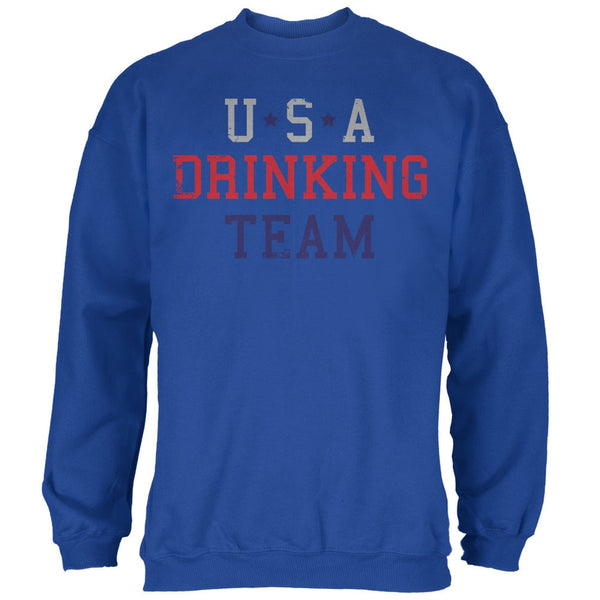 4th of July USA Drinking Team Royal Adult Sweatshirt