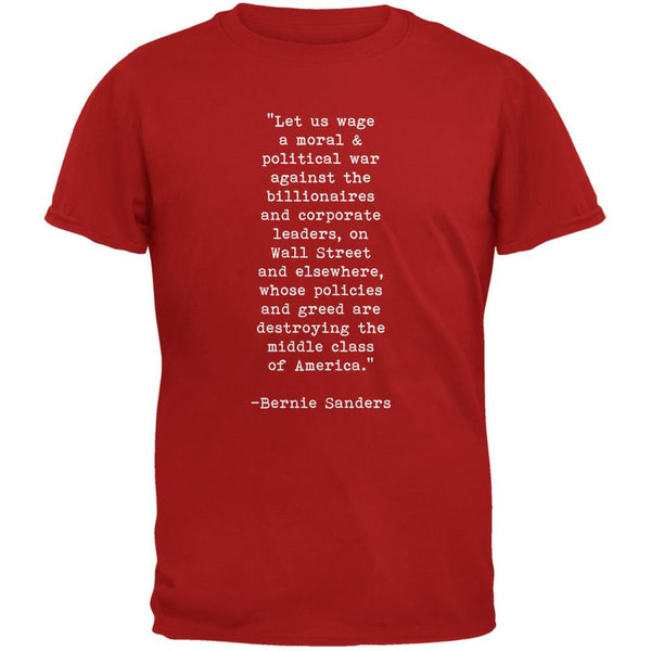 Election 2016 Bernie Sanders Quote Moral War Red Youth T-Shirt
