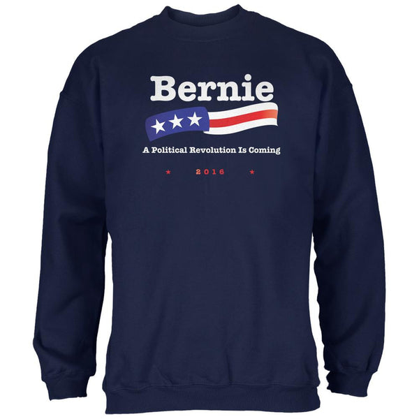 Election 2016 Bernie Sanders Revolution Navy Adult Sweatshirt