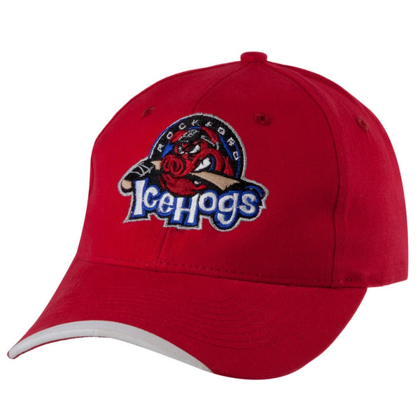 Rockford IceHogs - Logo Red Adjustable Baseball Cap