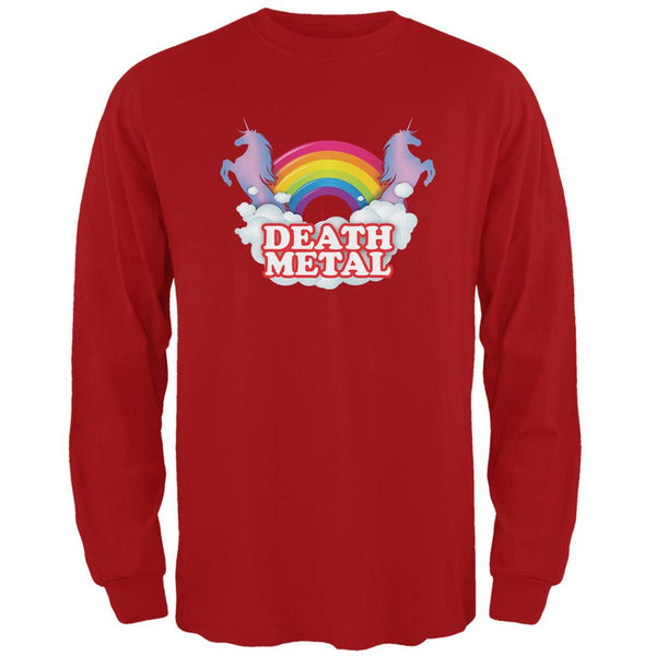 Death Metal Rainbow Red Adult Long Sleeve T-Shirt