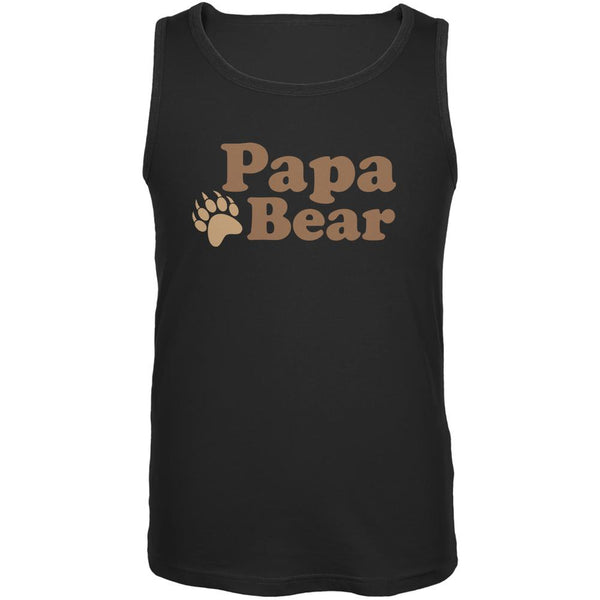Father's Day - Papa Bear Black Adult Tank Top