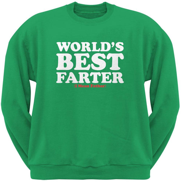 Fathers Day Worlds Best Farter Irish Green Adult Sweatshirt