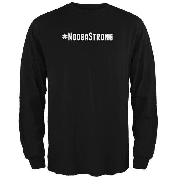 Hashtag #NoogaStrong Black Adult Long Sleeve T-Shirt