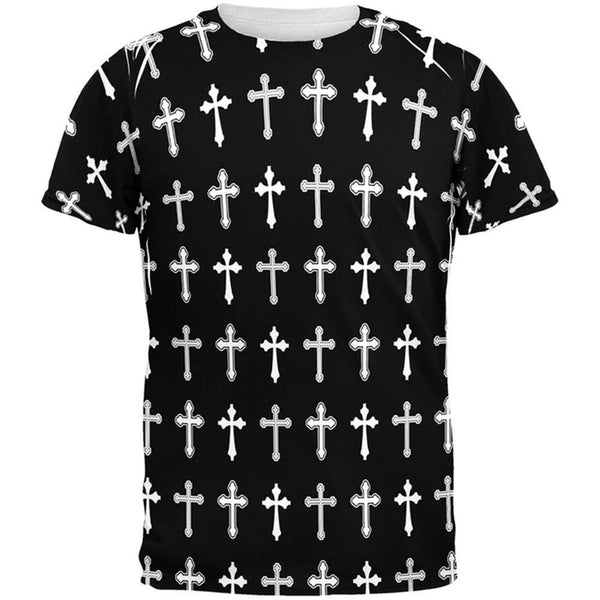 Crosses Pattern All Over Adult T-Shirt