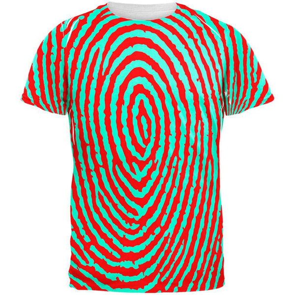 Fingerprint Pattern All Over Adult T-Shirt