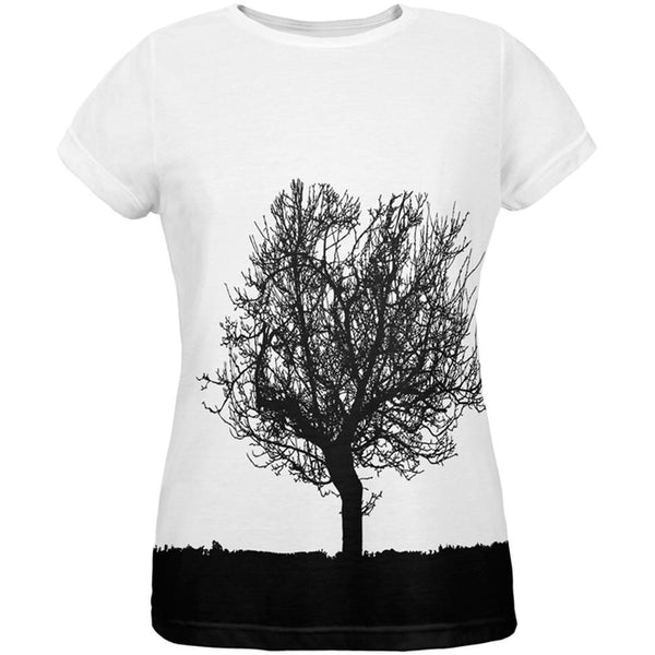Tree Silhouette All Over Womens T-Shirt