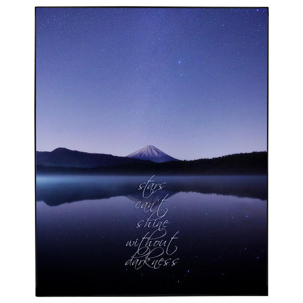 In Darkenss Stars Shine Framed Wall Art