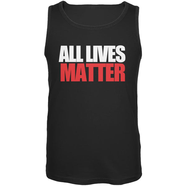All Lives Matter Black Adult Tank Top