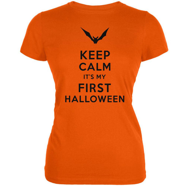 Halloween - Keep Calm My First Halloween Orange Juniors Soft T-Shirt