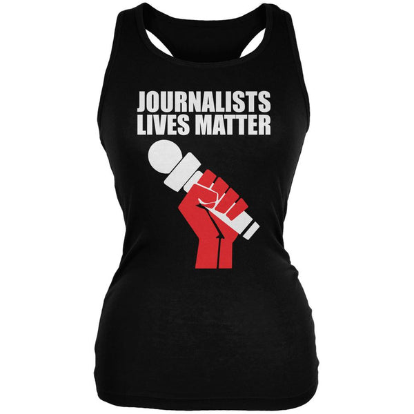 Journalists Lives Matter Black Juniors Soft Tank Top