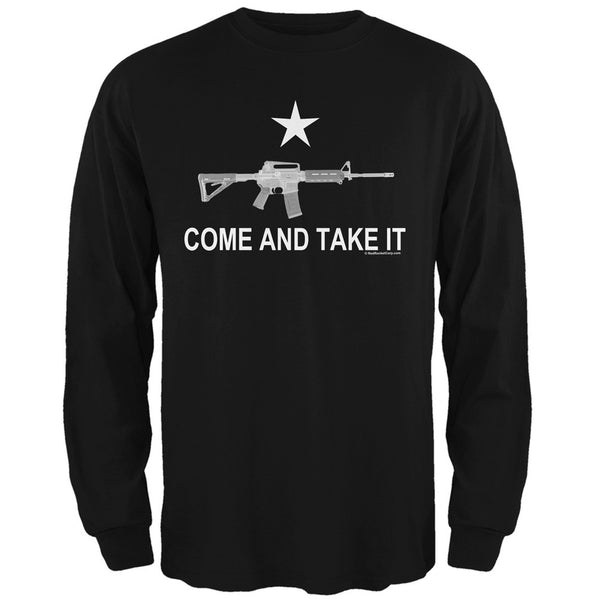 AR-15 Come and Take It Black Adult Long Sleeve T-Shirt