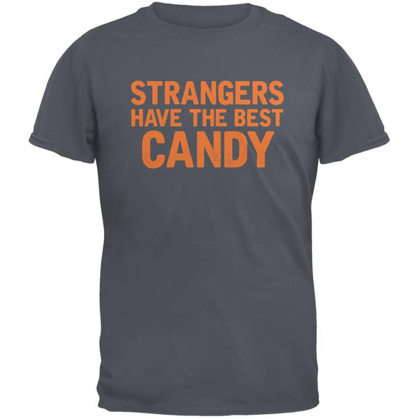 Halloween Strangers Have The Best Candy Charcoal Grey Adult T-Shirt