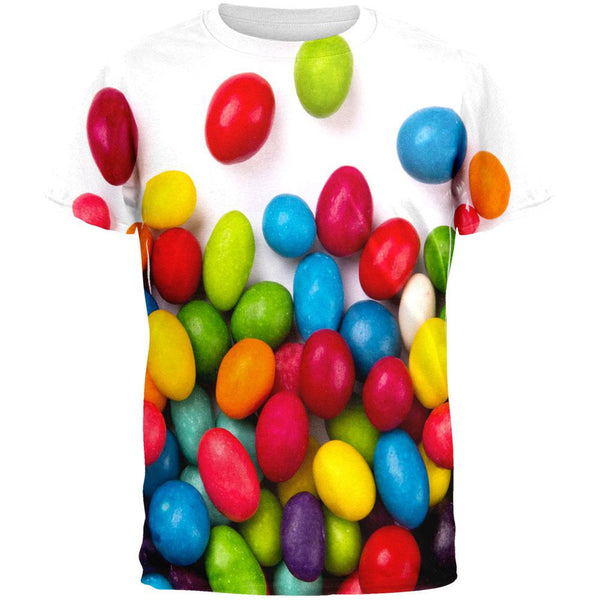 Halloween Jelly Beans All Over Adult T-Shirt