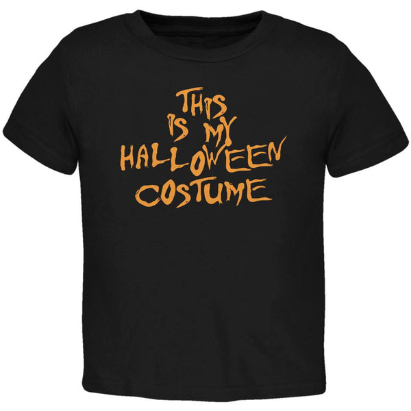 My Funny Cheap Halloween Costume Black Toddler T-Shirt