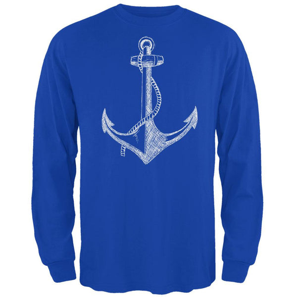 Summer Anchor Royal Adult Long Sleeve T-Shirt