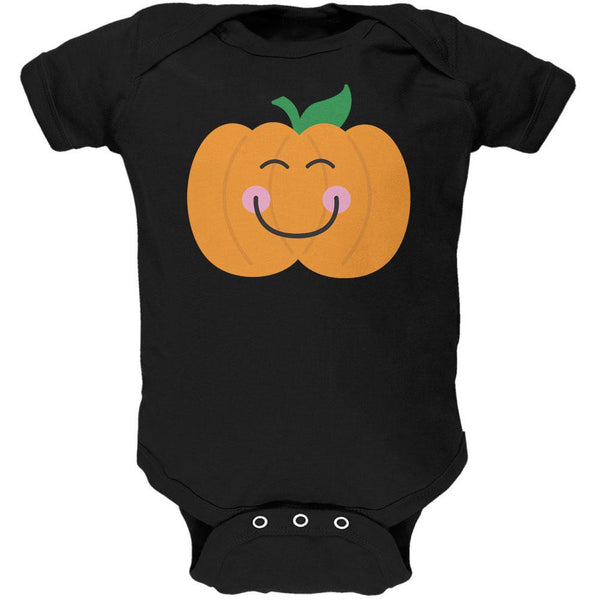 Halloween Little Pumpkin Black Soft Baby One Piece