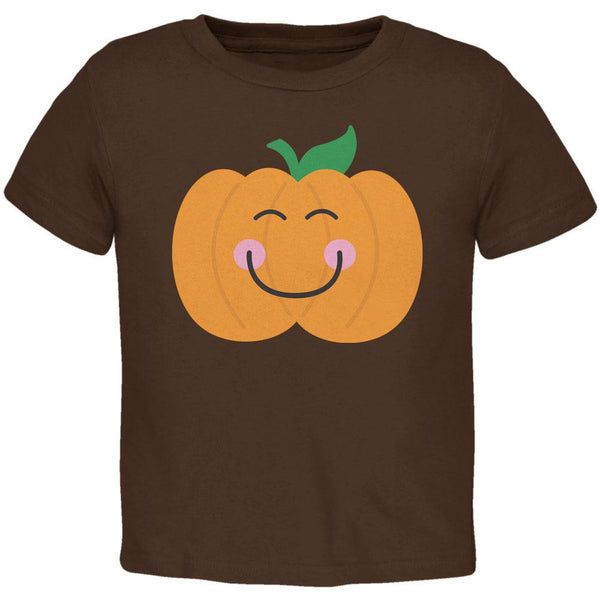 Halloween Little Pumpkin Brown Toddler T-Shirt