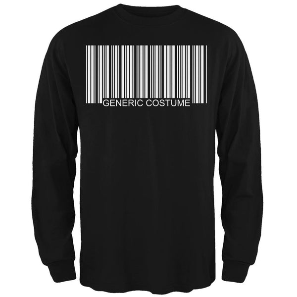 Halloween Generic Barcode Costume Black Adult Long Sleeve T-Shirt
