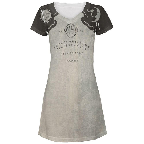 Halloween Ouija Board Costume All Over Juniors V-Neck Dress