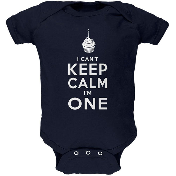 Birthday I Can't Keep Calm I'm 1 One Navy Soft Baby One Piece