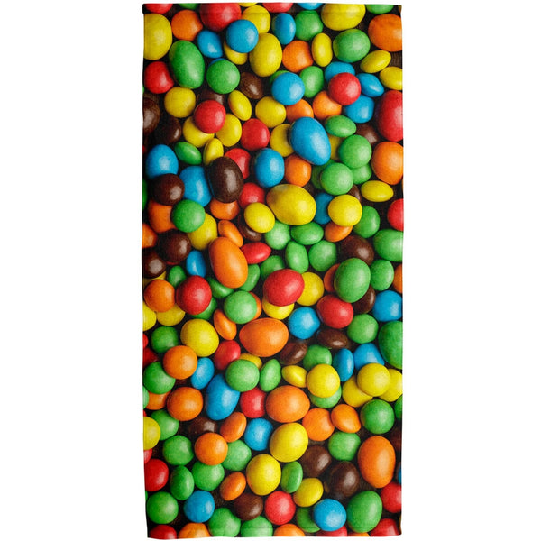 Halloween - Candy Coated Chocolate All Over Bath Towel