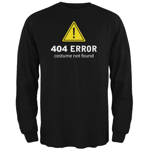 Halloween 404 Costume Not Found Black Adult Long Sleeve T-Shirt