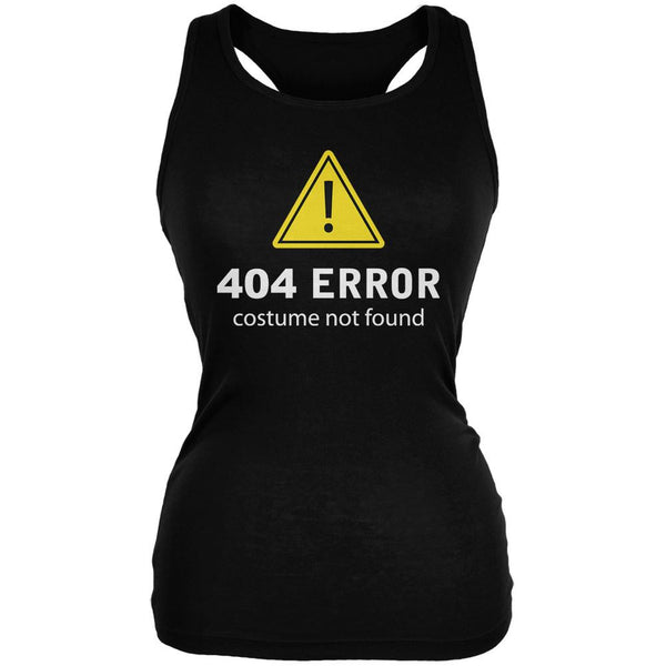 Halloween 404 Costume Not Found Black Juniors Soft Tank Top