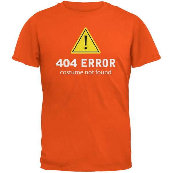 Halloween 404 Costume Not Found Orange Adult T-Shirt