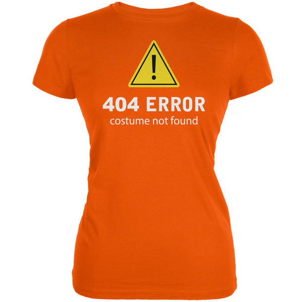 Halloween 404 Costume Not Found Orange Juniors Soft T-Shirt