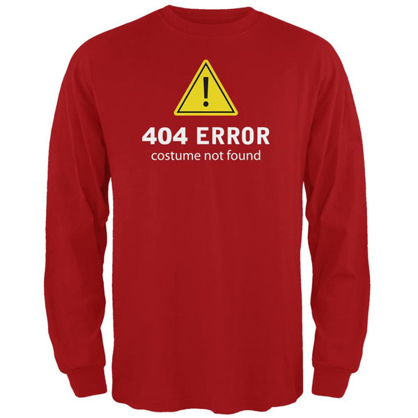 Halloween 404 Costume Not Found Red Adult Long Sleeve T-Shirt