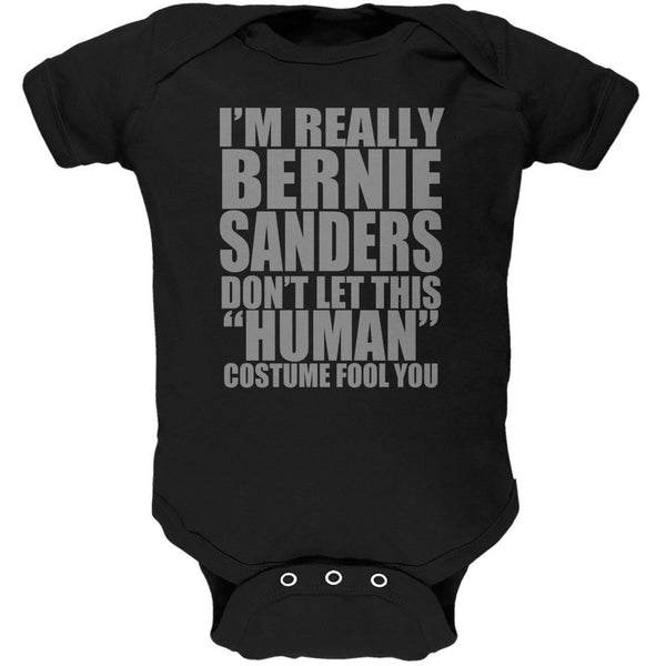 Halloween Election Bernie Sanders Costume Black Soft Baby One Piece