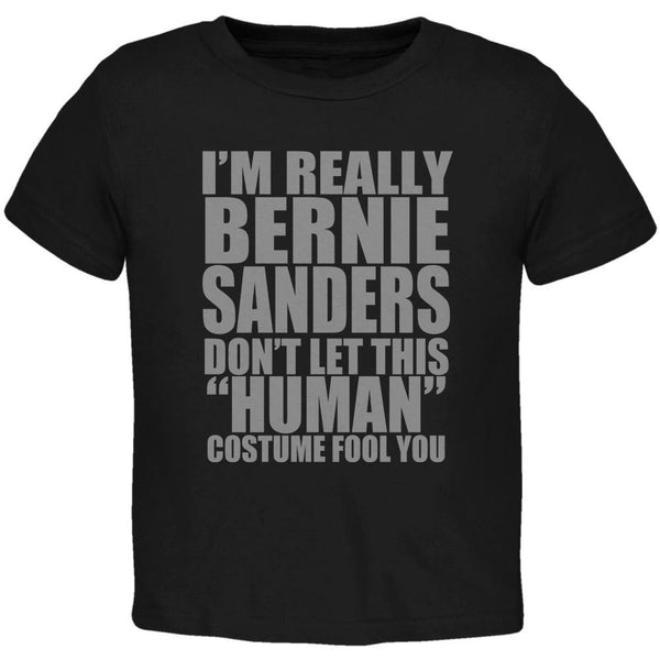 Halloween Election Bernie Sanders Costume Black Toddler T-Shirt