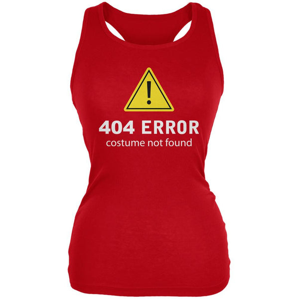 Halloween 404 Costume Not Found Red Juniors Soft Tank Top