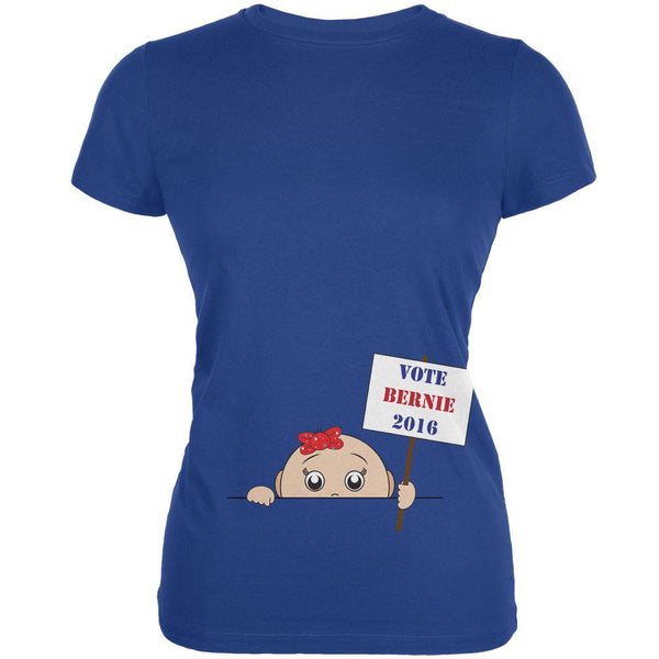 Election 2016 Peeking Baby Girl Bernie Sanders Royal Juniors Soft T-Shirt