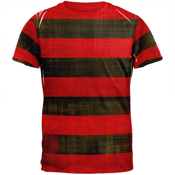 Halloween Striped and Bloody Nightmare Sweater All Over Adult T-Shirt