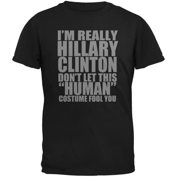 Halloween Election Hillary Clinton Costume Black Adult T-Shirt