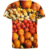 Halloween Rows of Pumpkins All Over Adult T-Shirt