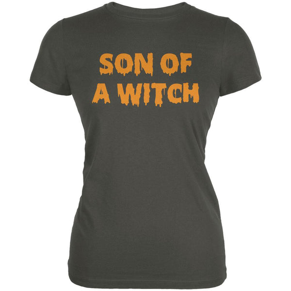 Halloween Son of A Witch Asphalt Juniors Soft T-Shirt