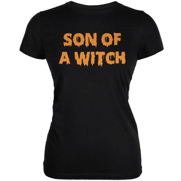 Halloween Son of A Witch Black Juniors Soft T-Shirt
