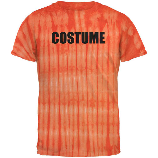 Halloween Costume Costume Bamboo Orange Tie Dye Adult T-Shirt
