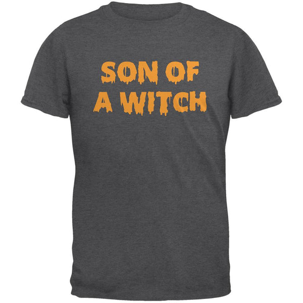 Halloween Son of A Witch Dark Heather Adult T-Shirt