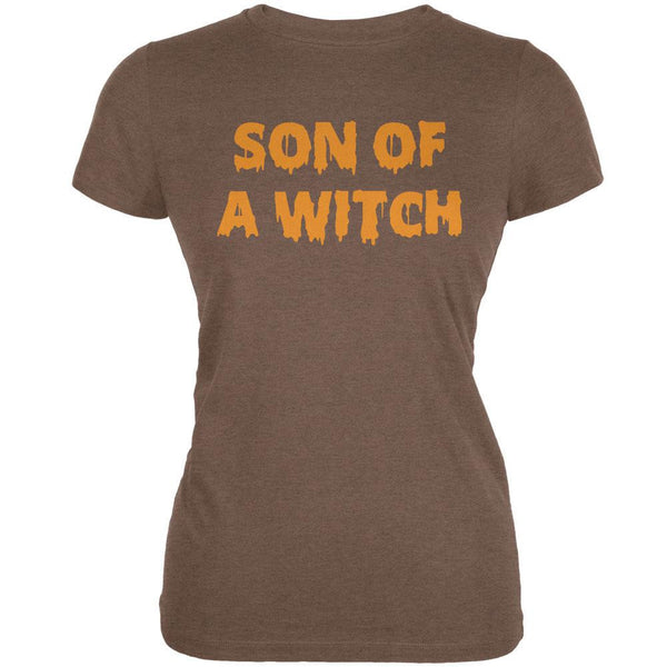 Halloween Son of A Witch Heather Brown Juniors Soft T-Shirt