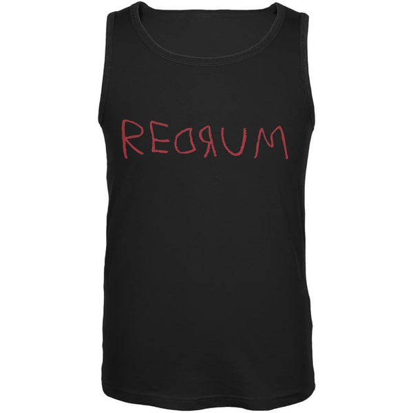 Halloween Horror Redrum Black Adult Tank Top