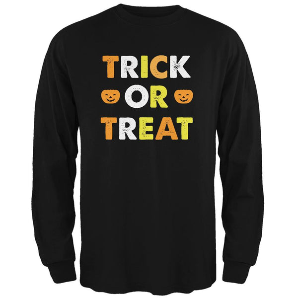 Halloween Trick Or Treat Black Adult Long Sleeve T-Shirt