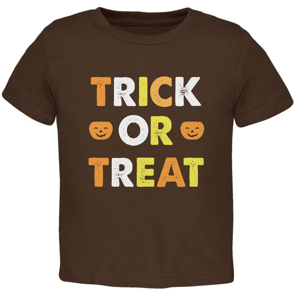 Halloween Trick Or Treat Brown Toddler T-Shirt